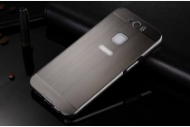 """Фирменная металлическая задняя панель-крышка-накладка из тончайшего облегченного авиационного алюминия для Gigaset ME / ME Pure 5.0"""" (GS55-6)  черная"""