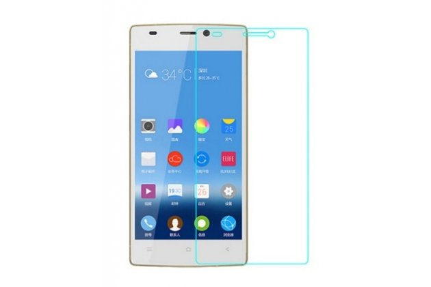 Фирменное защитное закалённое противоударное стекло премиум-класса из качественного японского материала с олеофобным покрытием для телефона Gionee Elife S5.5