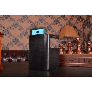 Чехол-книжка для TeXet TM-4504 кожаный с окошком для вызовов и внутренним защитным силиконовым бампером. цвет в ассортименте