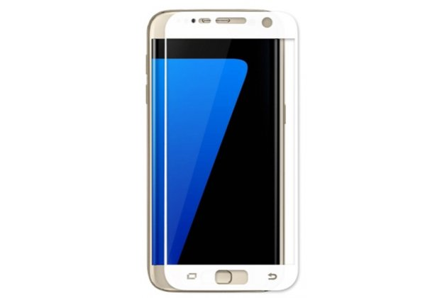 """Фирменное защитное противоударное стекло которое полностью закрывает экран из качественного японского материала с олеофобным покрытием для телефона Samsung Galaxy A5 2016/ A5+ / A510 / A5100 5.2"""" с защитой сенсорных кнопок и камеры"""