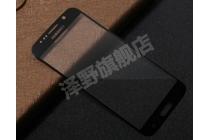 Фирменное защитное противоударное стекло которое полностью закрывает экран из качественного японского материала с олеофобным покрытием для телефона Samsung Galaxy S6 с защитой сенсорных кнопок и камеры