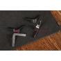 Чехол-обложка для Globex GU703C черный кожаный