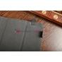 Чехол-обложка для Gmini MagicPad H807S черный с серой полосой кожаный
