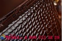Фирменный роскошный эксклюзивный чехол-клатч/портмоне/сумочка/кошелек из лаковой кожи крокодила для планшета GOCLEVER Quantum 700 Mobile Pro. Только в нашем магазине. Количество ограничено.