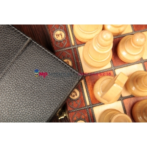 Чехол-обложка для Google LG Nexus 7.7 черный кожаный