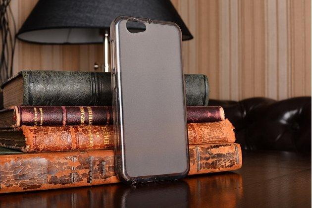 Фирменная ультра-тонкая полимерная из мягкого качественного силикона задняя панель-чехол-накладка для HTC One A9s серого цвета