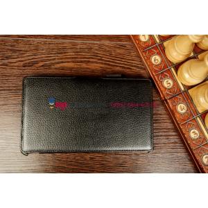 """Фирменный чехол для Asus Google Nexus 7 II 2 поколения 2013 model K009 черный """"Deluxe"""" натуральная кожа"""