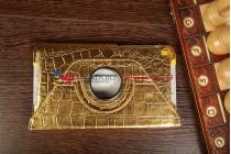 Эксклюзивный чехол для Google Nexus 7 2013 K009 кожа крокодила золотой. Только в нашем магазине. Количество ограничено