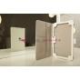 """Фирменный чехол-обложка для Asus Nexus 7 II 2 поколения 2013 с визитницей и держателем для руки белый натуральная кожа """"Prestige"""" Италия"""
