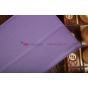 Фирменный чехол-обложка для Asus Nexus 7 II 2 поколения 2013 с визитницей и держателем для руки фиолетовый нат..