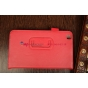 """Фирменный чехол-обложка для Asus Nexus 7 II 2 поколения 2013 с визитницей и держателем для руки красный натуральная кожа """"Prestige"""" Италия"""