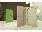 Фирменный чехол-обложка для Asus Nexus 7 II 2 поколения 2013 с визитницей и держателем для руки зеленый натура..
