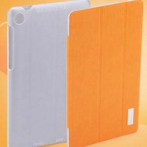 Фирменный чехол-обложка для Asus Nexus 7 II 2 поколения 2013 SLIM оранжевый кожаный