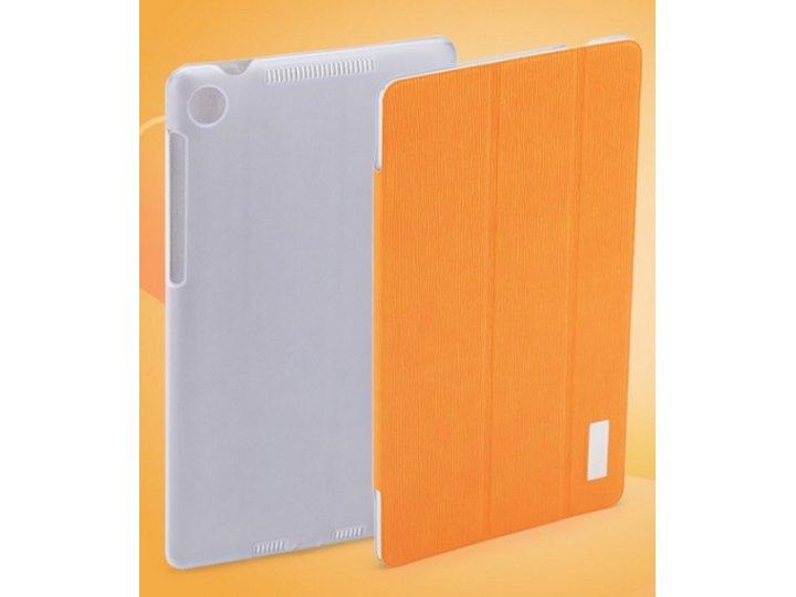 Фирменный чехол-обложка для Asus Nexus 7 II 2 поколения 2013 SLIM оранжевый кожаный..