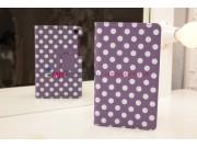 Фирменный чехол-книжка для Asus Google Nexus 7 2013 фиолетово-белый далматинец..