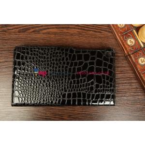 Фирменный чехол-обложка для Asus Google Nexus 7 II 2 поколения 2013 model K008 кожа крокодила черный