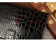Фирменный чехол-обложка для Asus Google Nexus 7 II 2 поколения 2013 model K008 кожа крокодила черный..