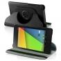 Чехол для Asus Google Nexus 7 2013 model K008 поворотный роторный оборотный черный кожаный..