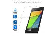 Фирменное защитное закалённое противоударное стекло премиум-класса из качественного японского материала с олеофобным покрытием для Asus Google Nexus 7 II 2 поколения 2013 model K008