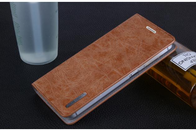 """Фирменный премиальный элитный чехол-книжка из качественной импортной кожи с мульти-подставкой и визитницей для Huawei Google Nexus 6P """"Ретро"""" коричневый"""