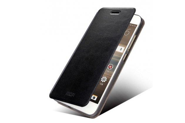 Фирменный чехол-книжка из качественной водоотталкивающей импортной кожи на жёсткой металлической основе для  Huawei Google Nexus 6P черный
