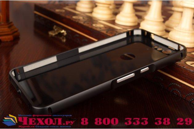 Фирменная металлическая задняя панель-крышка-накладка из тончайшего облегченного авиационного алюминия для Huawei Google Nexus 6P черная