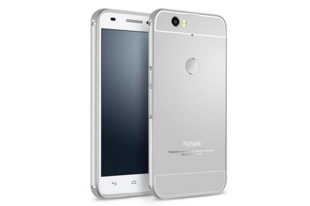 Фирменная металлическая задняя панель-крышка-накладка из тончайшего облегченного авиационного алюминия для Huawei Google Nexus 6P серебристая