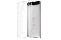 Фирменная задняя панель-крышка-накладка из тончайшего и прочного пластика для Huawei Google Nexus 6P прозрачная