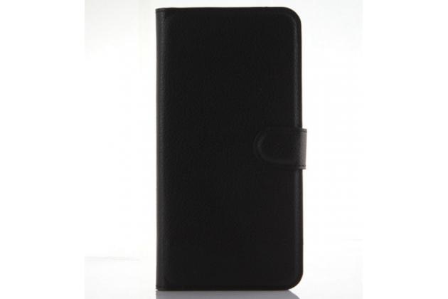 Фирменный чехол-книжка из качественной импортной кожи с мульти-подставкой застёжкой и визитницей для Хуавей Гугл Нексус 6П черный