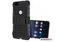 Противоударный усиленный ударопрочный фирменный чехол-бампер-пенал для Huawei Google Nexus 6P черный