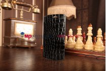 Чехол-книжка со встроенной усиленной мощной батарей-аккумулятором большой повышенной расширенной ёмкости 3800mAh для LG Nexus 5 (D821) кожа крокодила черный + гарантия