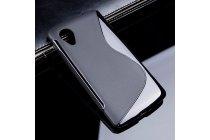 Фирменная ультра-тонкая полимерная из мягкого качественного силикона задняя панель-чехол-накладка для LG Google Nexus 5 D821 черная
