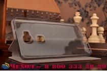 Фирменный чехол-книжка из качественной водоотталкивающей импортной кожи на жёсткой металлической основе для LG Google Nexus 5 D821 коричневый