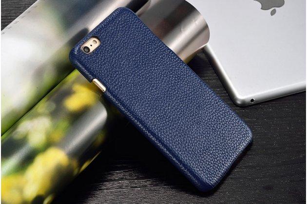 Фирменная роскошная элитная премиальная задняя панель-крышка для LG Google Nexus 5X из качественной кожи буйвола синяя