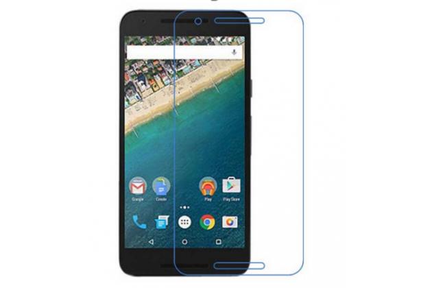 Фирменная оригинальная защитная пленка для телефона LG Google Nexus 5X  глянцевая
