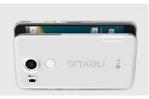"""Фирменная ультра-тонкая полимерная из мягкого качественного силикона  с заглушками задняя панель-чехол-накладка для LG Google Nexus 5X 5.2"""" серебристая"""