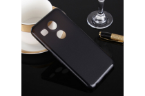 """Фирменная ультра-тонкая полимерная из мягкого качественного силикона задняя панель-чехол-накладка для  LG Google Nexus 5X 5.2"""" черная"""
