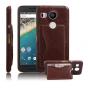 Фирменная роскошная элитная премиальная задняя панель-крышка для LG Google Nexus 5X  из качественной кожи буйв..