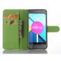Фирменный чехол-книжка из качественной импортной кожи с мульти-подставкой застёжкой и визитницей для LG Google..