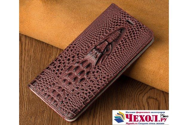 Фирменный роскошный эксклюзивный чехол с объёмным 3D изображением кожи крокодила бордо для LG Google Nexus 5X  . Только в нашем магазине. Количество ограничено