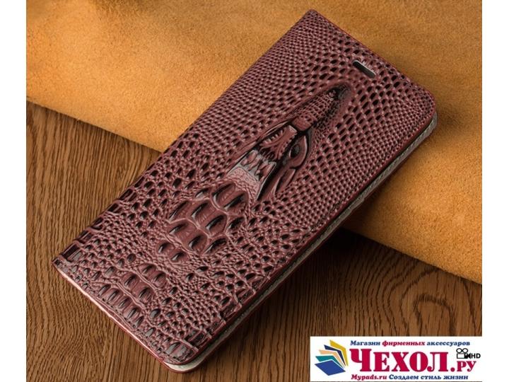 Фирменный роскошный эксклюзивный чехол с объёмным 3D изображением кожи крокодила бордо для LG Google Nexus 5X ..