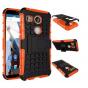 Противоударный усиленный ударопрочный фирменный чехол-бампер-пенал для LG Google Nexus 5X оранжевый..