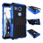Противоударный усиленный ударопрочный фирменный чехол-бампер-пенал для LG Google Nexus 5X синий..