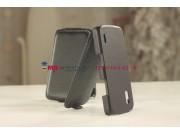Чехол-флип для LG Nexus 4 E960 черный кожаный..