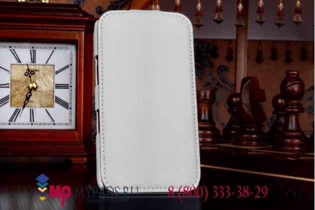 Фирменный вертикальный откидной чехол-флип для LG Google Nexus 4 E960 белый кожаный