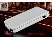 Фирменный вертикальный откидной чехол-флип для LG Google Nexus 4 E960 белый кожаный..