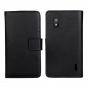 Фирменный чехол-книжка с подставкой для LG Google Nexus 4 E960 черный..