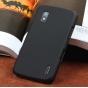 Фирменная ультра-тонкая полимерная из мягкого качественного силикона задняя панель-чехол-накладка для LG Googl..