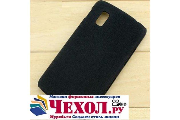 Фирменная задняя панель-крышка-накладка из тончайшего и прочного пластика для LG Google Nexus 4 E960 черная
