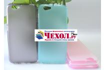 Фирменная ультра-тонкая полимерная из мягкого качественного силикона задняя панель-чехол-накладка для HTC One A9s голубого цвета.